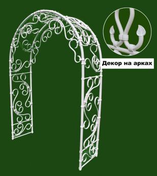 """Арка садовая """"Карелия"""", белая пластиковая"""